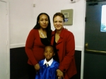 Sharon Warfield with daughter Alana and my grandson Jordan at his graduation from kindergarten